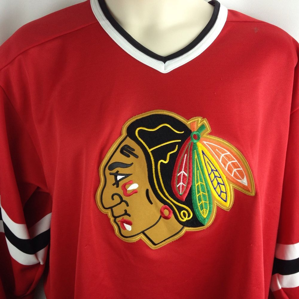lowest price 3cef3 19e0e Chicago Blackhawks CCM NHL Hockey Red Jersey Mens Size XXL ...