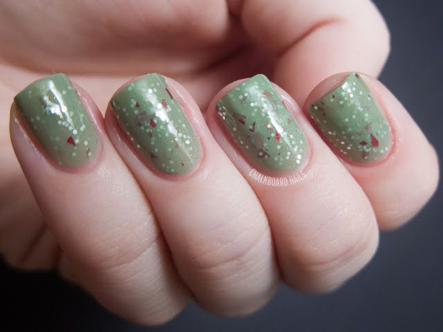 Sassy Lacquer, Boughs of Mint Holly, Chalkboard Nails