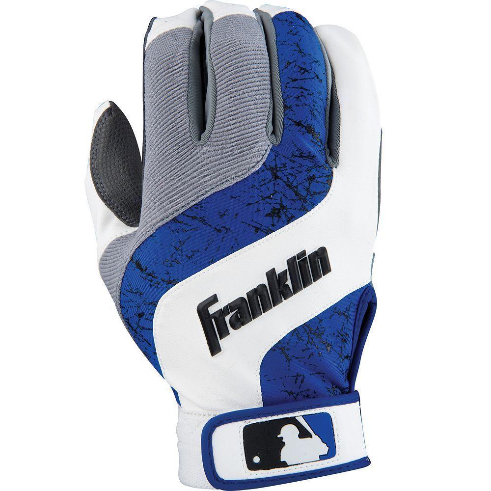 Franklin Shok Wave Batting Gloves Youth White Batting Gloves