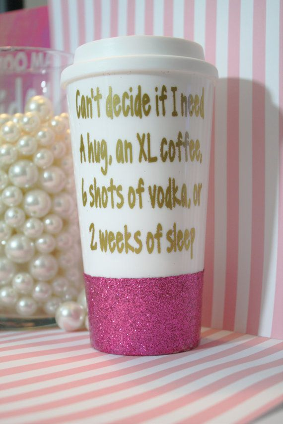 Vodka Coffee Tumbler Cute Quote By Thetipsybride