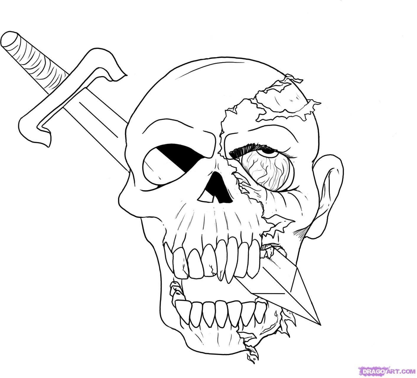 крутые рисунки для пацанов карандашом скелеты фактурные обои одной