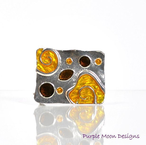 Orange Hair Pin, Orange Alligator Clip
