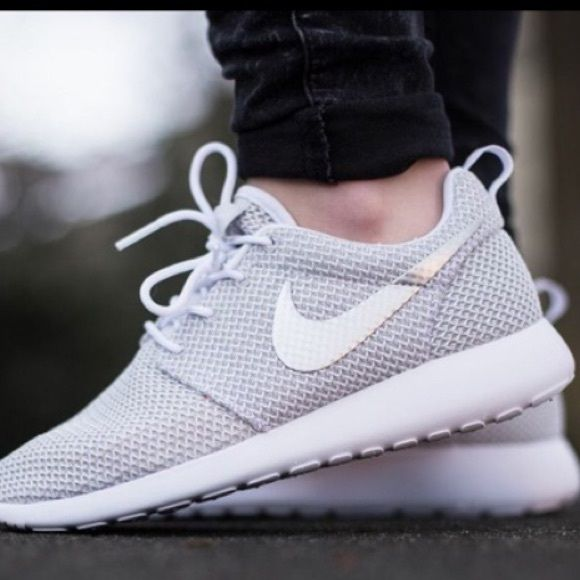 131c233bd6bb1 light grey Nike roshe shoes in need of a pair of these shoes!!! lmk if u  find any like these!! Nike Shoes Athletic Shoes