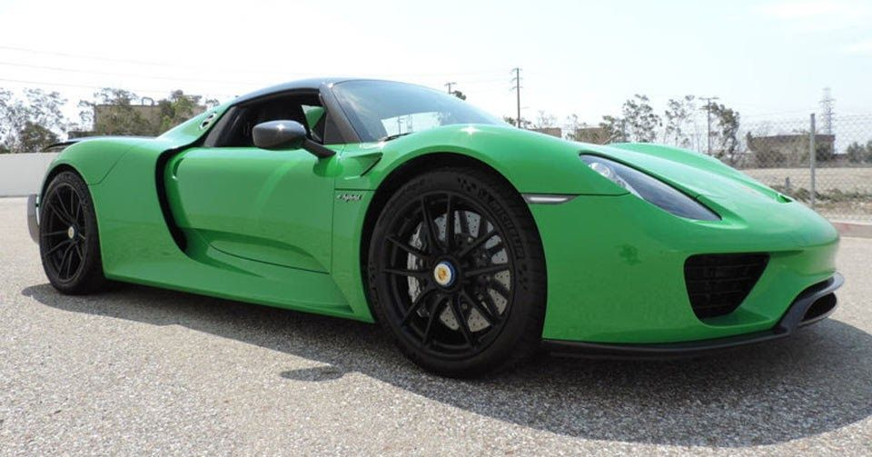 This Porsche 918 Spyder Sports Viper Green Paint, $2 Mill Asking Price #Porsche #Porsche_918