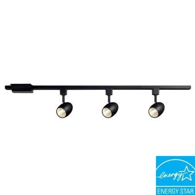 Hampton bay 3937 in 3 light black led dimmable track lighting kit hampton bay 3937 in 3 light black led dimmable track lighting kit 16033kit aloadofball Images