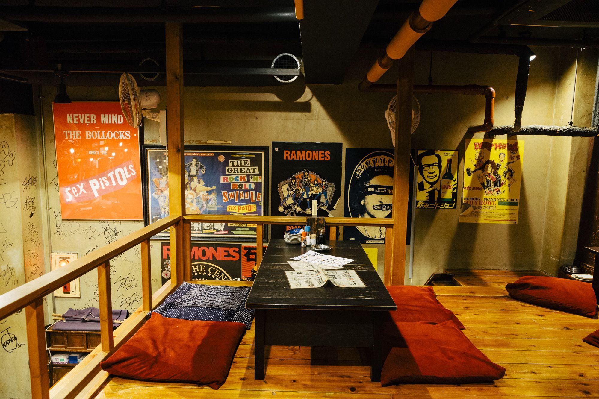 Yoshiyuki Okada – owner of punk rock izakaya Tatemichiya at his ...