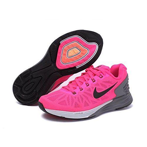 96ed050c2f8fa ... uk womens nike lunarglide 6 running shoe hyper pink pure platinum cool  grey black size 7