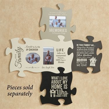 create a unique display with photo frame puzzle piece wall art