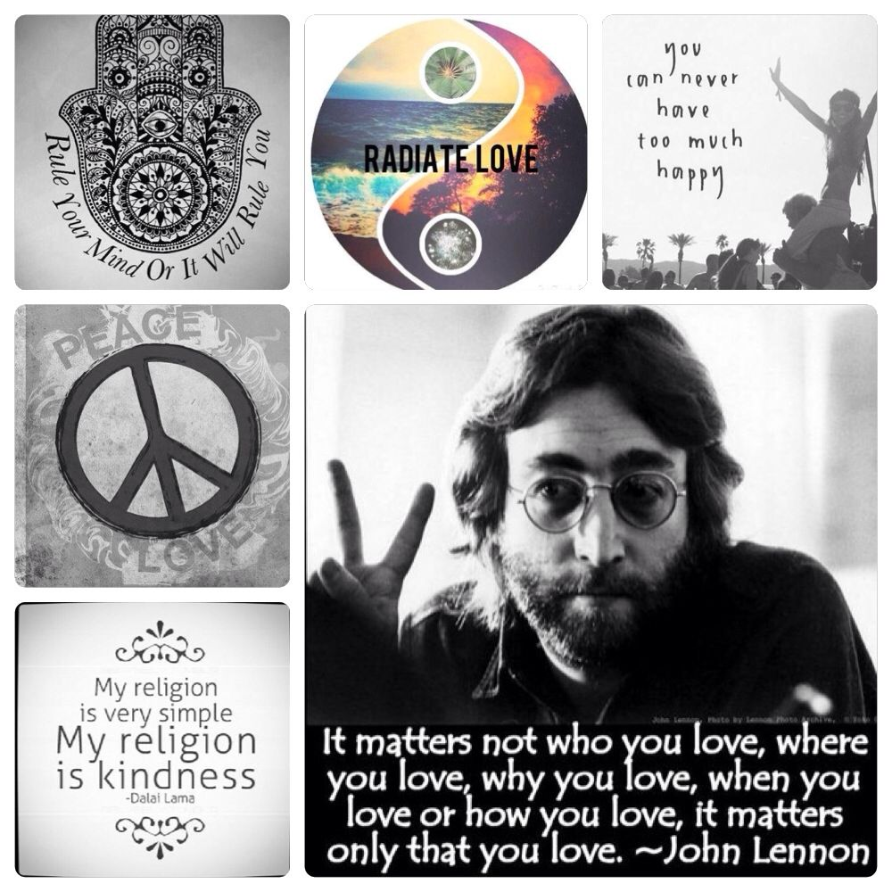 Love Peace And Happiness John Lennon Quote Kindness Peace