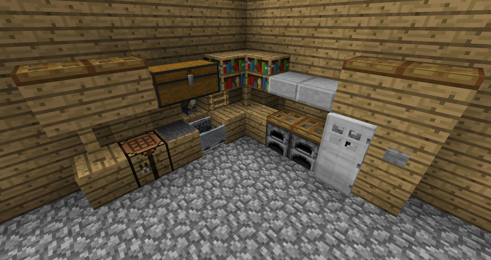 A minecraft kitchen can have no uses at all being idiotic and stylish