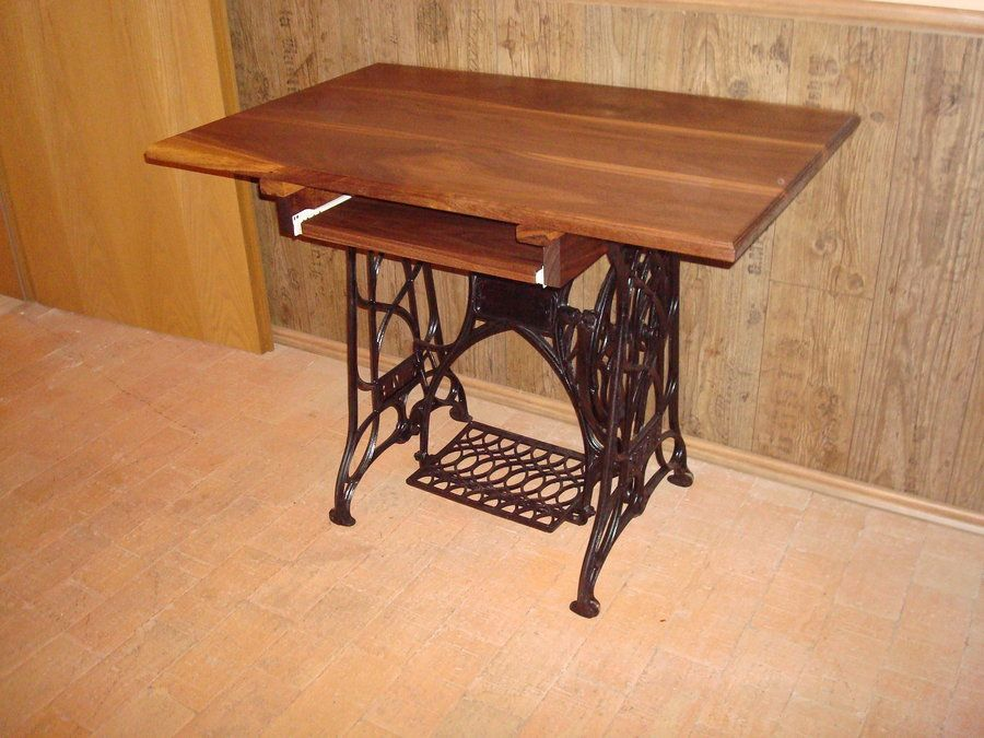 SOLD* Old Treadle Sewing Machine Computer Desks   By Elwood89 .
