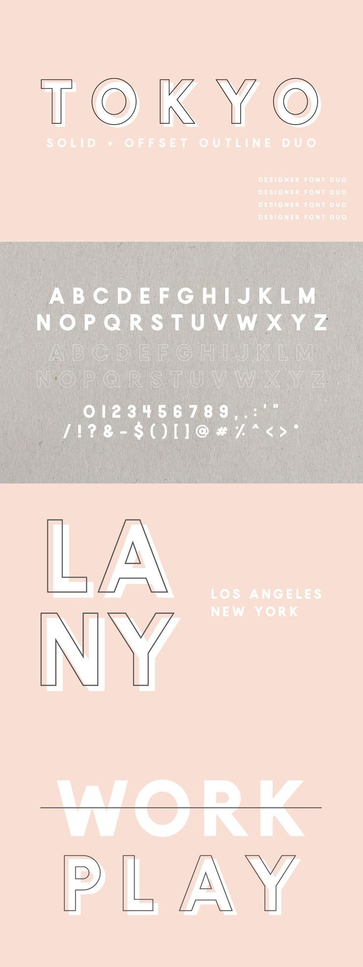 Tokyo | A Designer Font Duo | Font Pairings | Typography