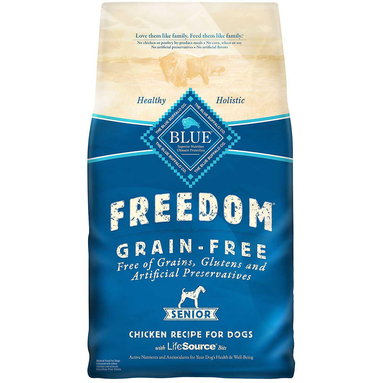 Blue Buffalo Freedom Grain Free Chicken Recipe Senior Dog