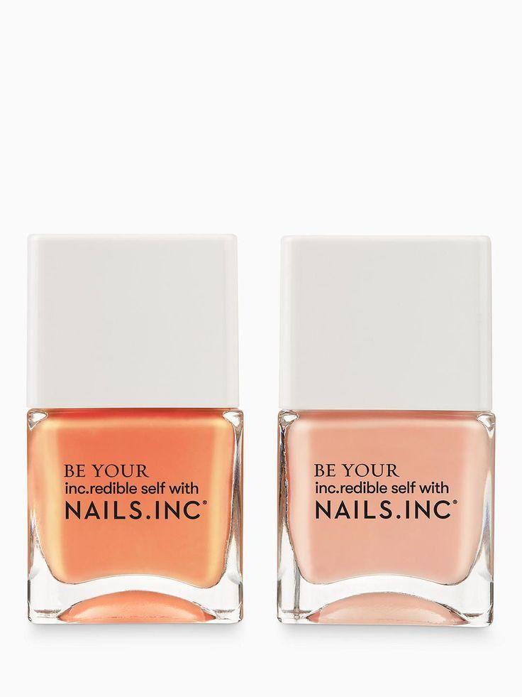 #shopping  #pretty  #girl  #girls  #beauty  #beautiful  #nails  #nail #Kiss #Peach BuyNails Inc Kiss My Peach Nail Polish Duo Online at johnlewis.com