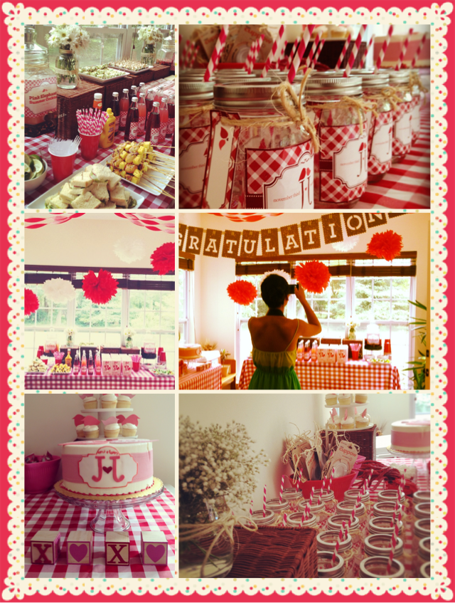 country picnic theme bridal shower