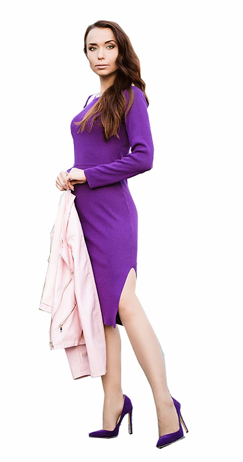 800a65d07f255 Sexy jersey dress with side slit | Dresses | Dresses, Pink ladies ...