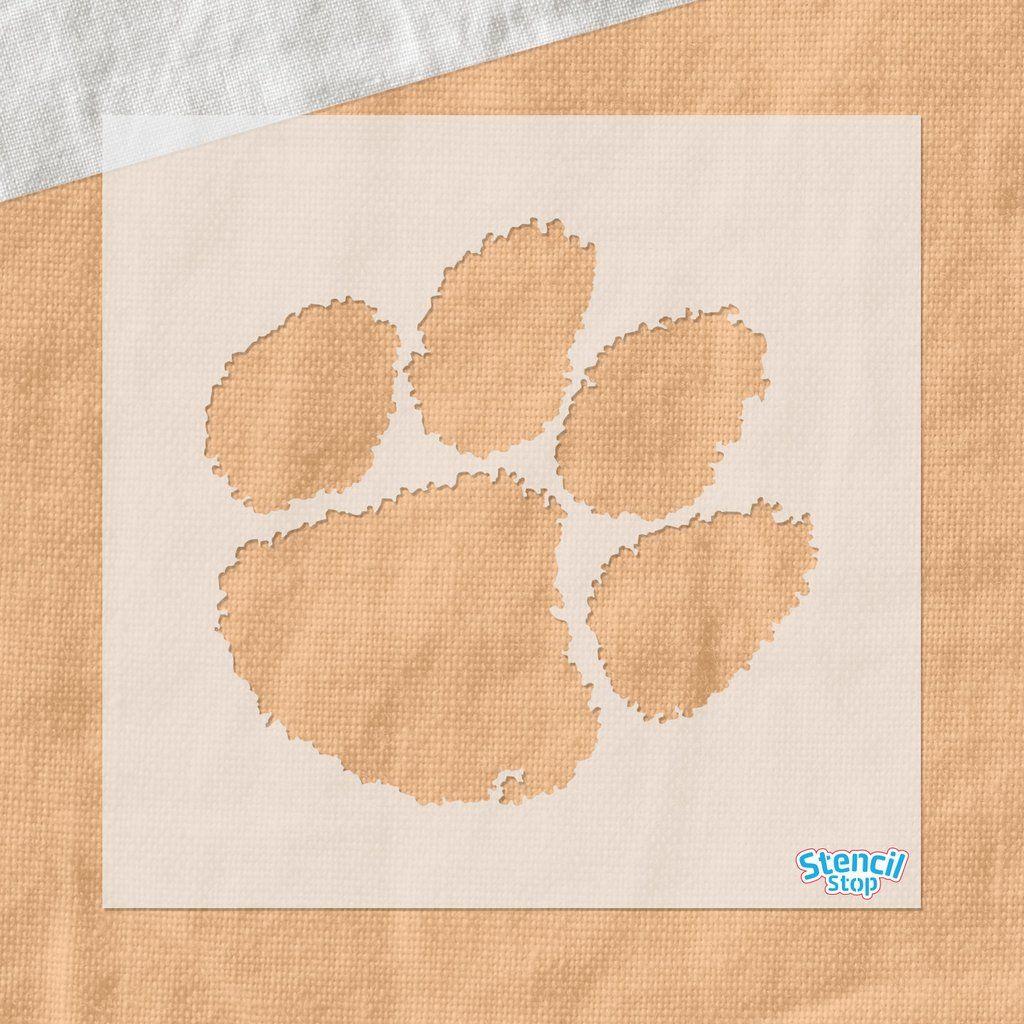 Clemson tigers paw logo stencil paw logo clemson tiger