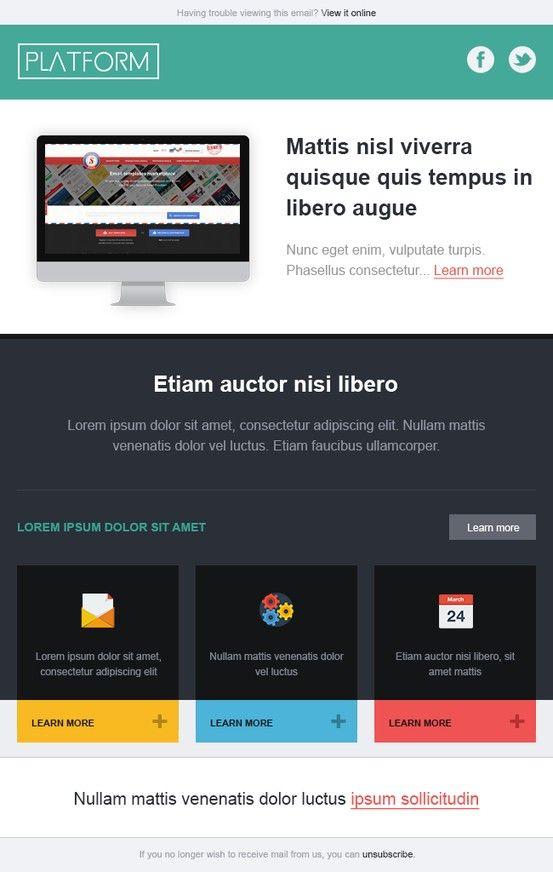 Platform U2013 Newsletter HTML Email Marketing Design