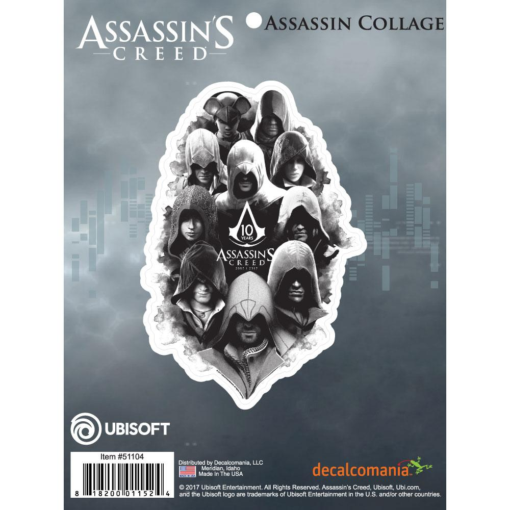 Assassin's Creed 10 Years Hooded Assassin Collage Logo