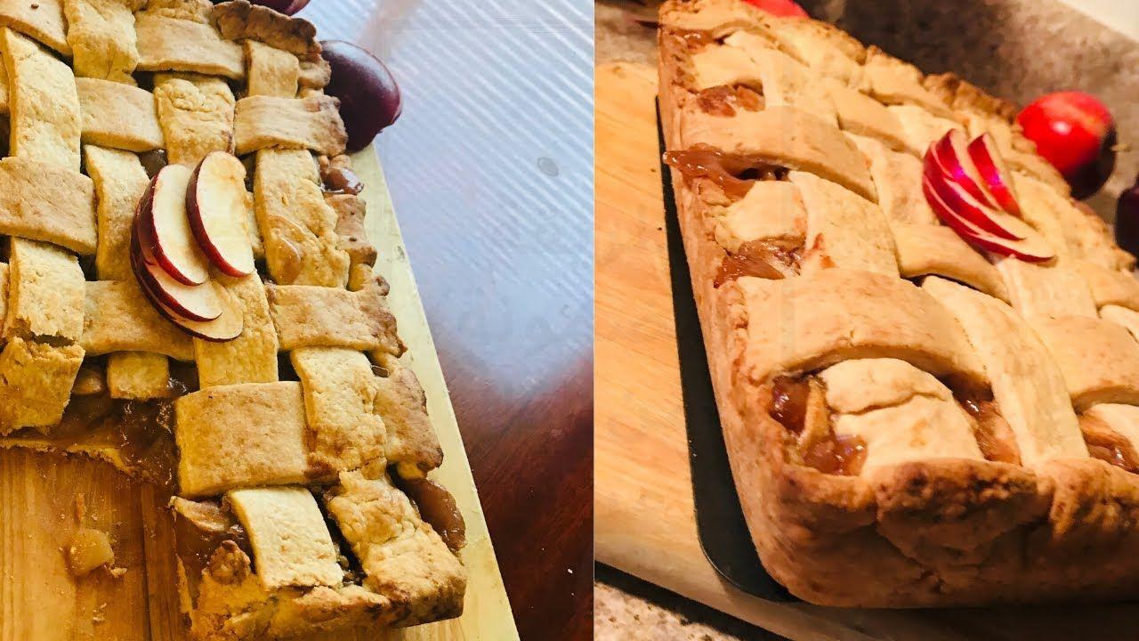 طريقة عمل ابل باي فطيرة التفاح بدون اى ادوات ونتيجه مضمونه من Food Desserts Pie