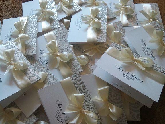 Zaproszenia Slubne Na Slub Roza Koronka Koperta 5451492782 Oficjalne Archiwum Allegro Gift Wrapping Gifts