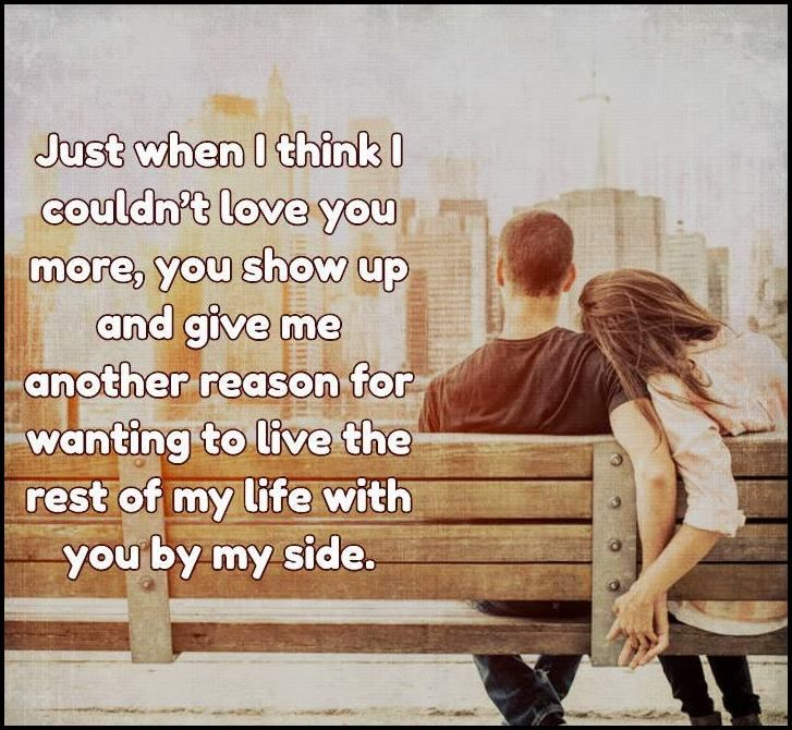 I Love The Pictures On The Side Of Hutch Want To Do This: I Do Want To Live The Rest Of My Life By Your Side