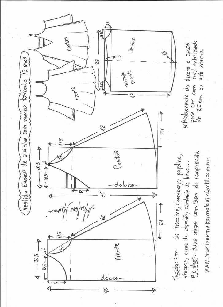 vestido-acampanado-hombros-fuera-12.jpg (727×1000)   bluz ...