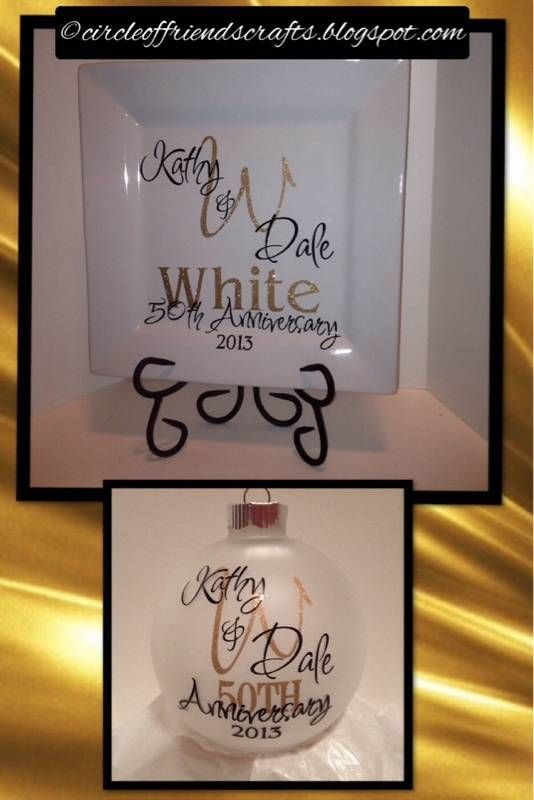 Gifts For 50th Wedding Anniversary For Friends: 50th Anniversary Plates & Ornaments