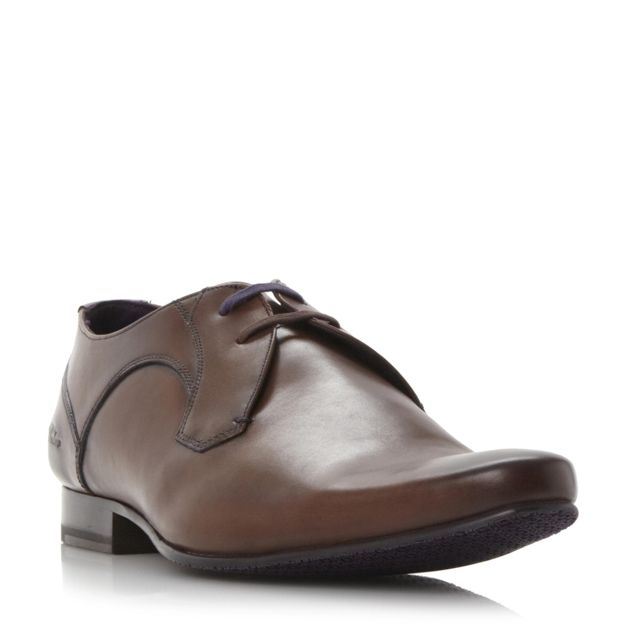36ce16935fc4 TED BAKER MENS MARTT 2 - Leather Derby Shoe With Constrast Laces - brown