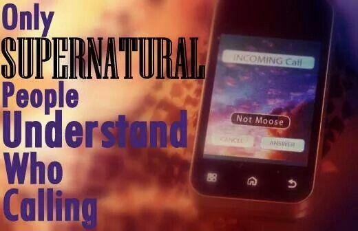 Lol....supernatural