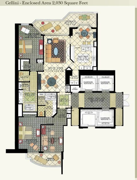 Acqualina Cellini Floor Plan Architectural Fun Apartment Floor Plans House Floor Plans Floor Plans