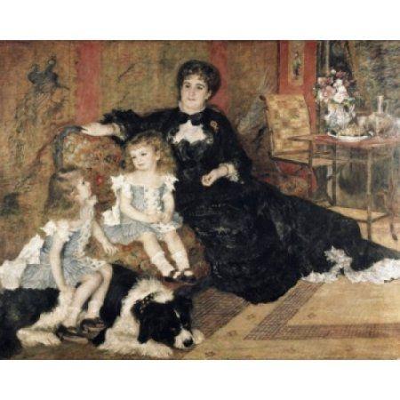 Madame Carpenter and Her Children 1878 Pierre-Auguste Renoir (1841-1919French) Oil on canvas Metropolitan Museum of Art New York City Canvas Art - Pierre-Auguste Renoir (24 x 36)