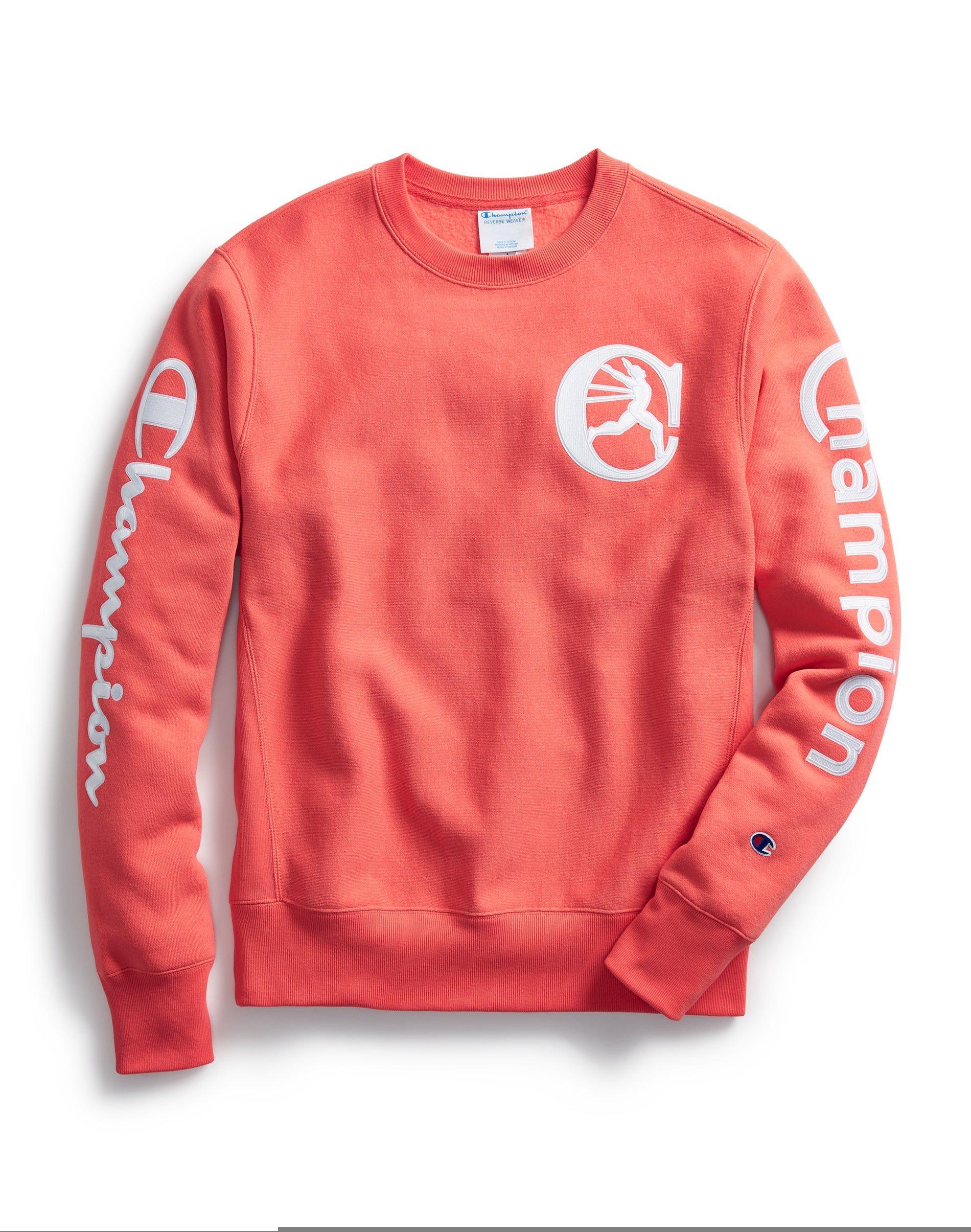 Men S Champion Life Exclusive Reverse Weave Crew Retro Logos Groovy Papaya Sweatshirts Mens Sweatshirts Hoodie Retro Logos [ 2410 x 1900 Pixel ]