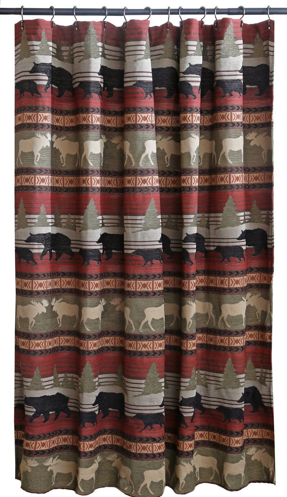 Ontario Wilderness Shower Curtain Cabin Shower Curtain Cabin