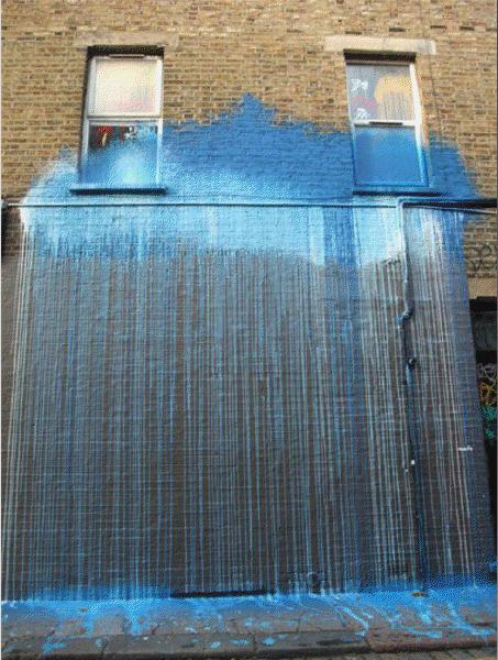 Street art, rain