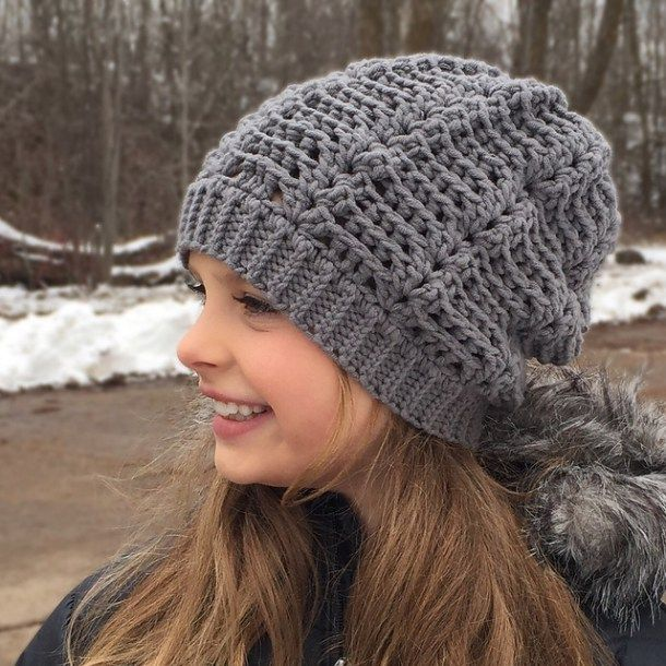 Wave Slouch Hat By Crochet By Jennifer Arts And Crafts That Look