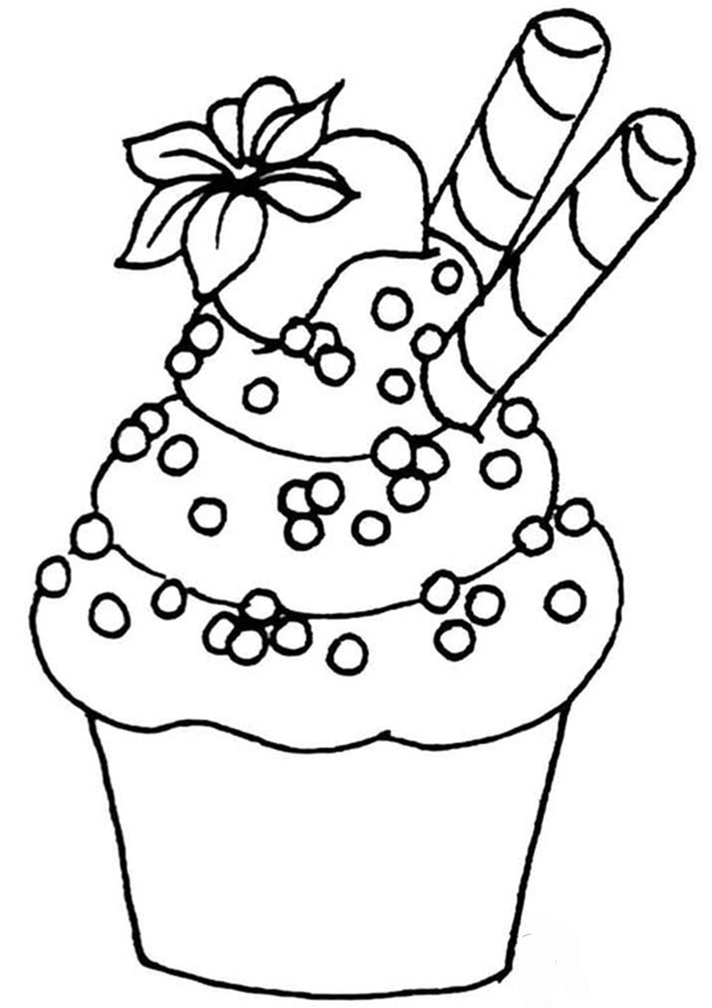 Free Easy To Print Cupcake Coloring Pages Cupcake Coloring Pages Coloring Pages Leaf Coloring Page