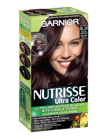 Nutrisse Ultra Color Permanent Hair In Intense Auburn Black By Garnier Creamy And Conditioning For Dark With Reflective Red Tones