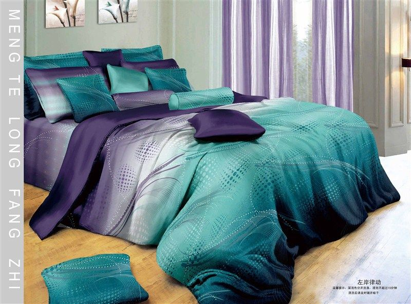 Blue Purple Gradient 5pc Modern Gradient Blue White Purple Cotton