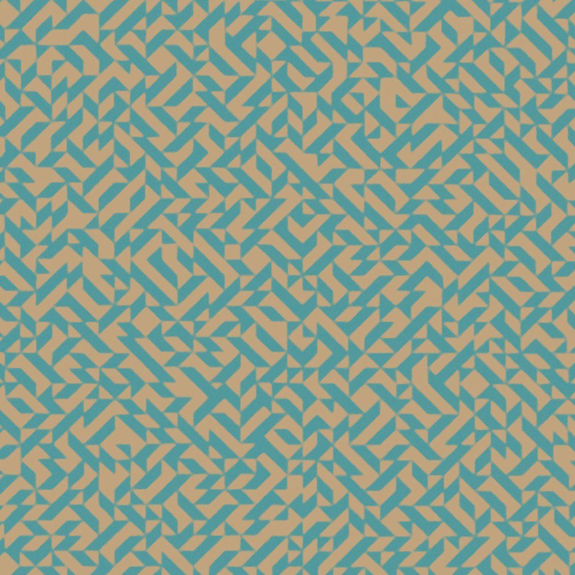 Papier Peint Grafigold 100 Intisse Motif Geometrique Vert D Eau Et
