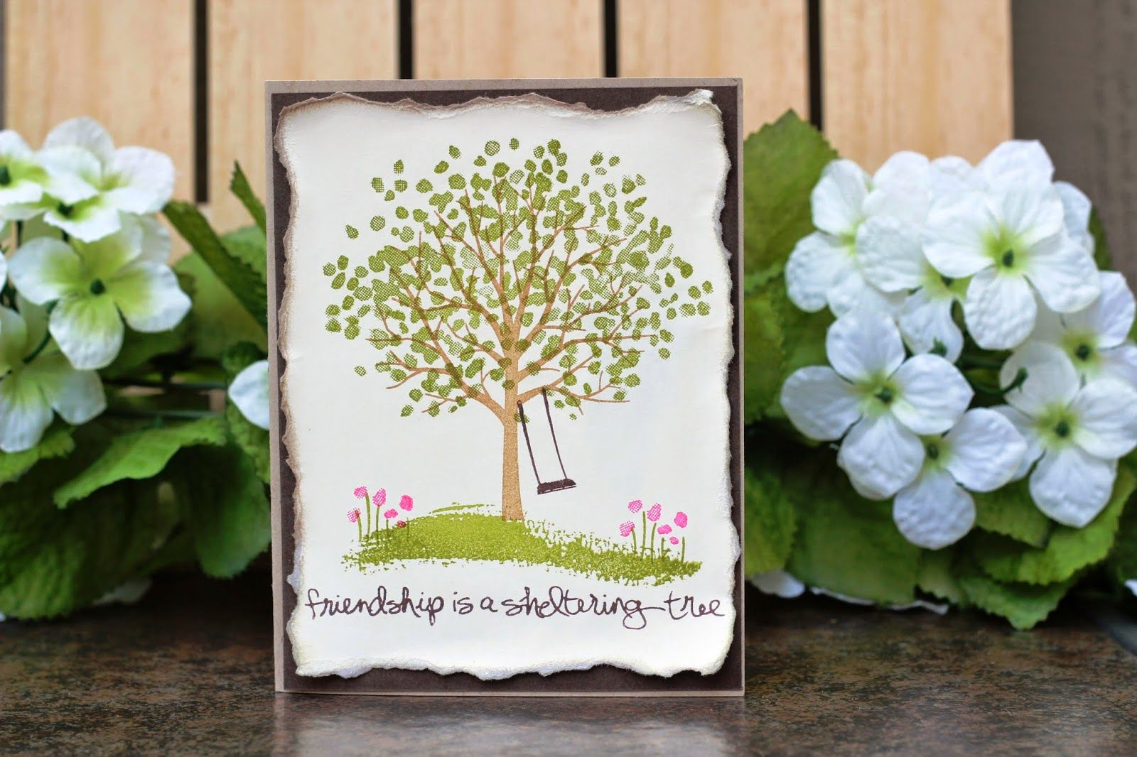Sheltering tree friendship card created by the stampin b
