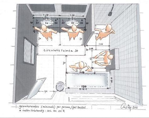indeling vierkante badkamer met wc - Google Search | Bad | Pinterest ...