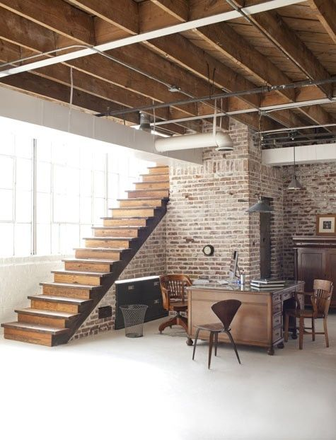 Great Space All Wood Flat Rafters With Industrial Pipes