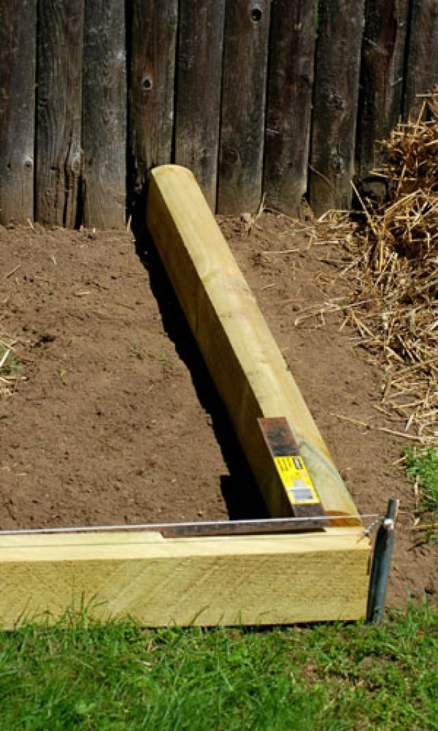 How to Install Landscape Timber Edging Landscape timbers