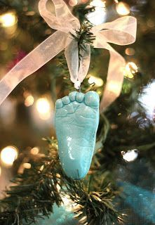 TheBabyHandprintCompany: Child's Footprint Ornament For Christmas and Forev...