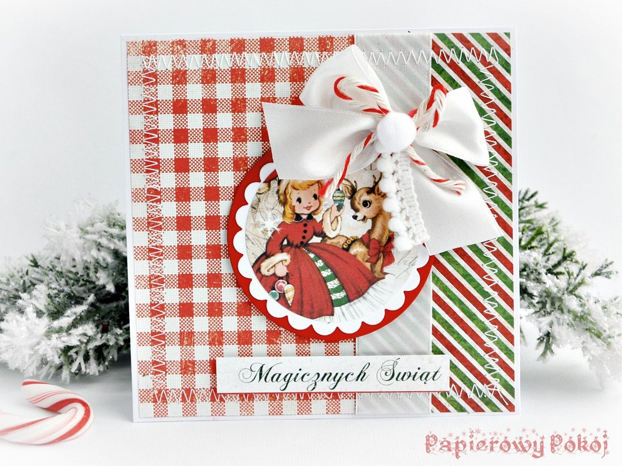 Diy Set Of 6 Retro Christmas Card Samples Christmas Crafts Pinterest