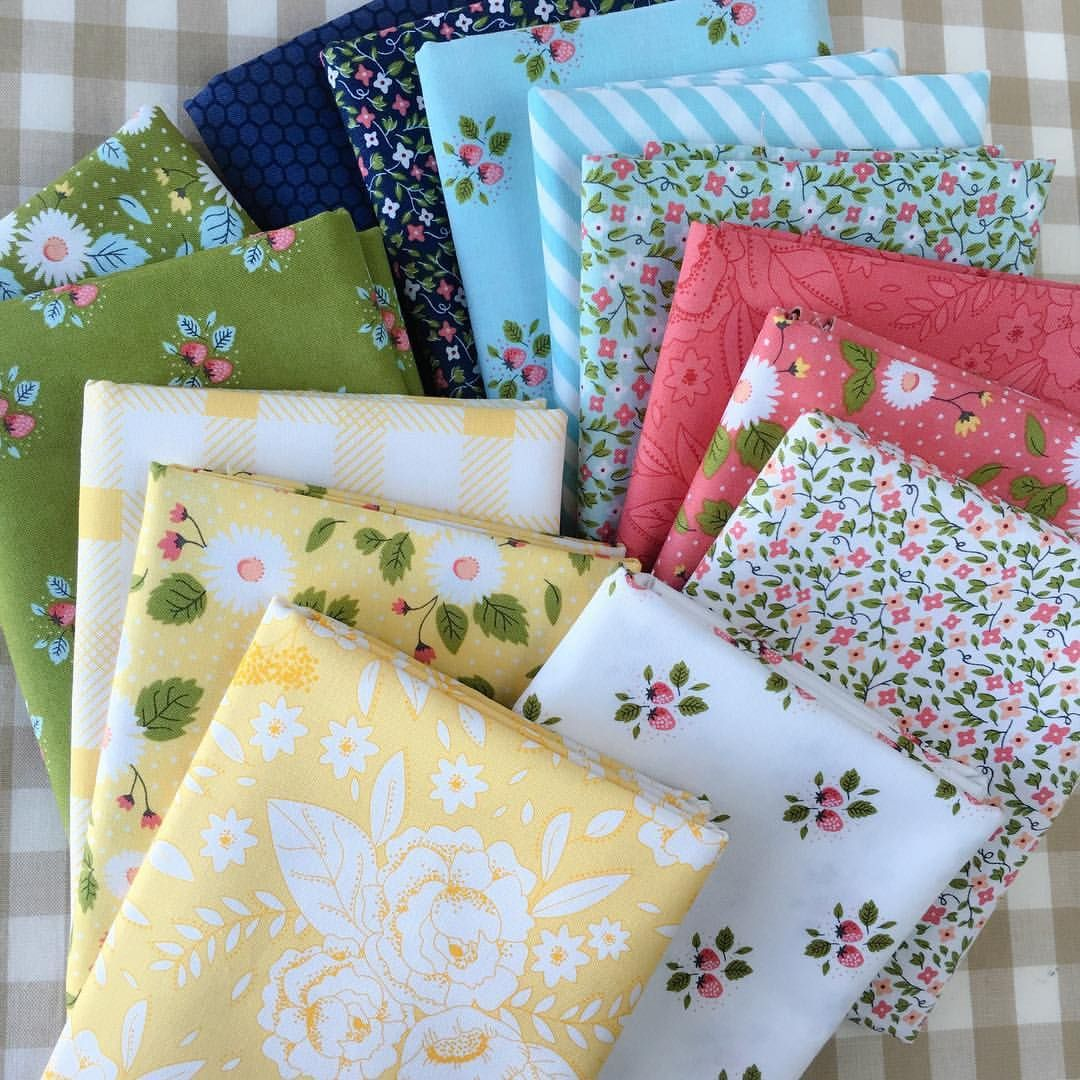 ☀️ Lovely selection of Little Miss Sunshine (Lella Boutique for Moda) fat quarters from @loulousfabricshop