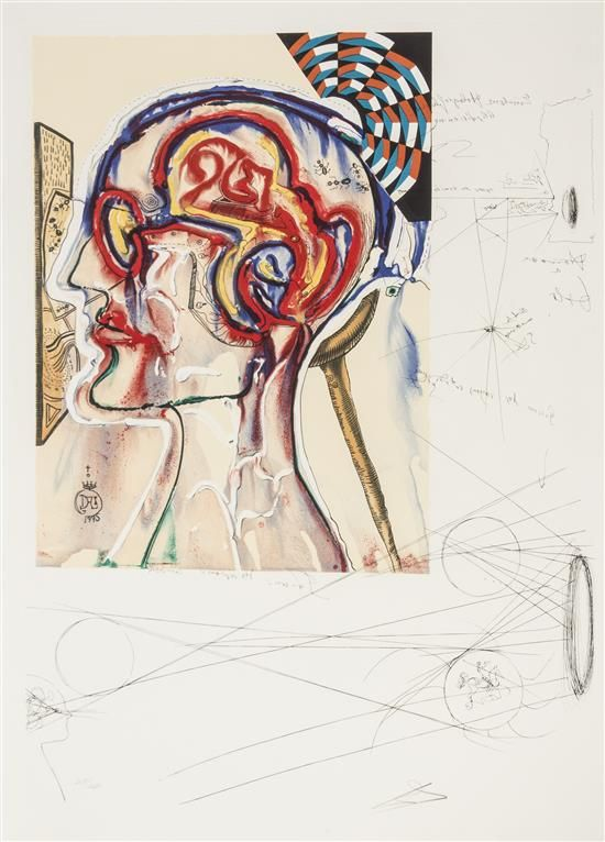 Salvador Dali, (Spanish, 1904-1989), Imaginations and Objects of the Future (suite of 10 with box and text)