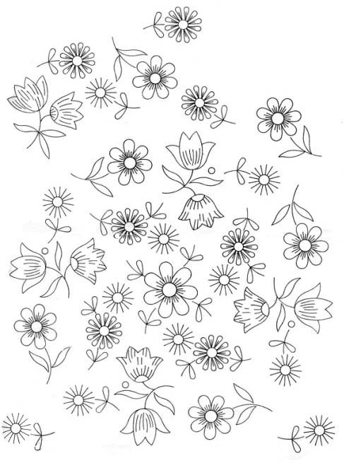 Embroidery Pattern | Antiguedades y colecciones/antiques and ...