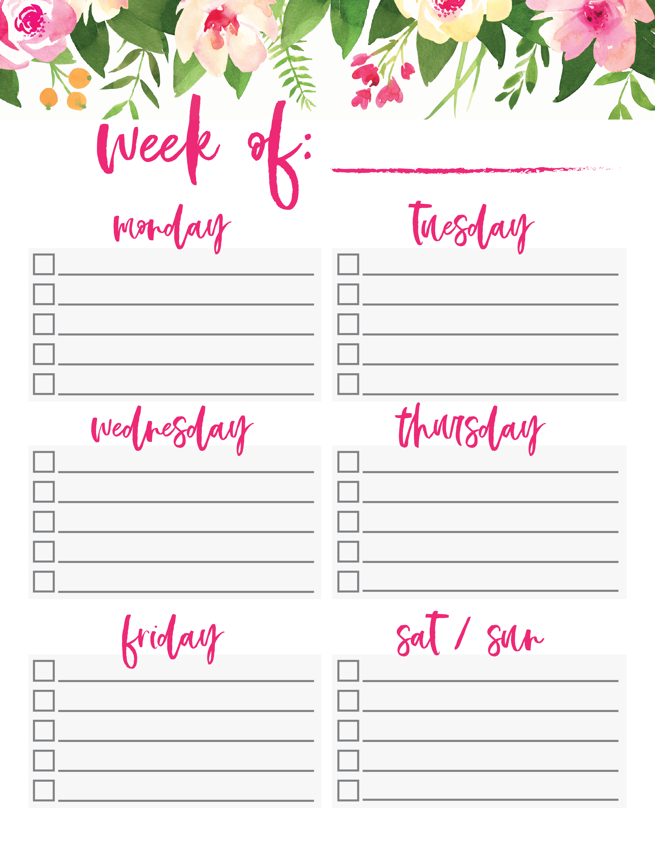 What Do You Need To Do This Week Download This